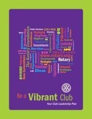 元気なクラブづくりのために - Rotary International