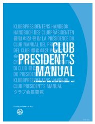 La présidence du club [222-FR] - Rotary International