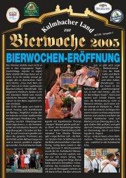 Jetzt geht's los… - Bierfestzeitung