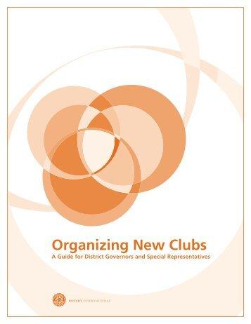 新クラブを結成する - Rotary International