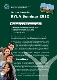 RYLA Seminar 2012 - Rotary Distrikt 1820