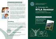RYLA Seminar - Rotary Distrikt 1820
