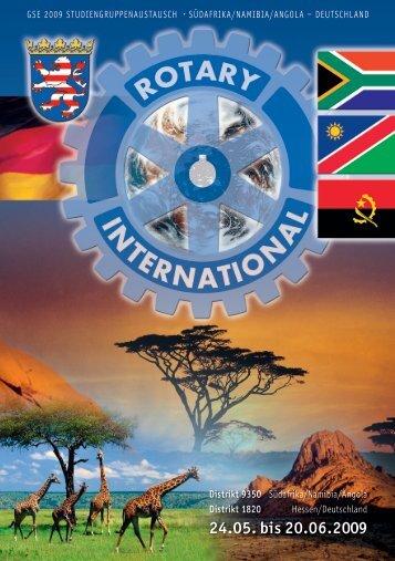 24.05. bis 20.06.2009 - Rotary Distrikt 1820