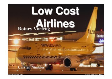 30.10.2006 Carsten Nimbler: Lowcost Airlines