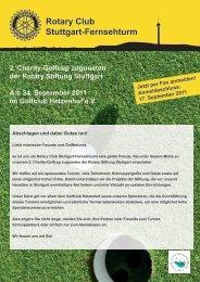 Rotary Club Stuttgart-Fernsehturm 2. Charity-Golfcup zugunsten der ...