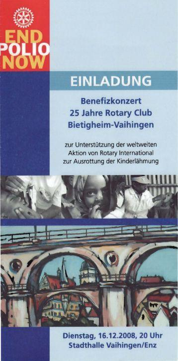 Benefizkonzert 25 Jahre Rotary Club Bietigheim-Vaihingen