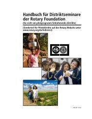 Handbuch für Distriktseminare der Rotary Foundation - Distrikt 1850