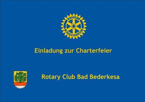 Einladung Charterfeier Rotary Club Bad Bederkesa.cdr