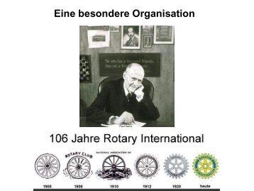 Rotary - Eine besondere Organisation - Distrikt 1850
