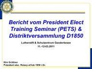 Rotary – eClub 1850 i.Gr. - Distrikt 1850