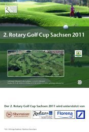 Einladung zum 2. Rotary Golf Cup Sachsen 2011