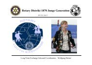 Rotary Distrikt 1870 Junge Generation PETS 2013