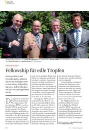Fellowship für edle Tropfen - 1870