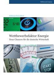 Wettbewerbsfaktor Energie - BeteiligungsReport.de