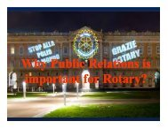 important for Rotary? - Rotary International District 3310