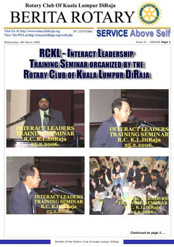 rckl - interact leadership training seminar organized by the