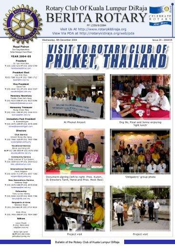 visit to rotary club of phuket, thailand - Rotary Club of Kuala Lumpur ...