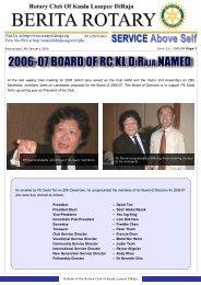 2006-07 board of rckl diraja named - Rotary Club of Kuala Lumpur ...