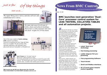 'K' newsletter - Blow Moulding Controls