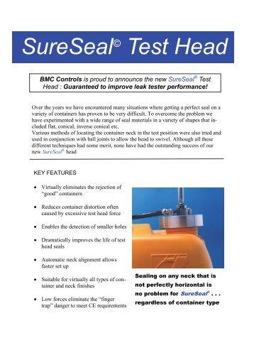 SureSeal Test Head - Blow Moulding Controls