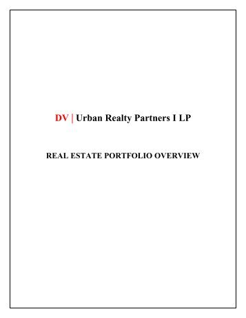 DV | Urban Realty Partners I LP - Crain's Chicago Business