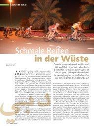 Reportage im TOUR Magazin 01/08 - Dubaibikeguide