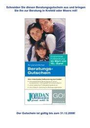 Beratungs- Gutschein - Orthopädie Schuhtechnik Jordan