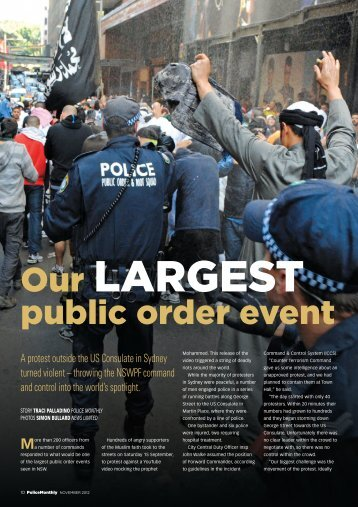 Our largest Public Order Event - NSW Police Force