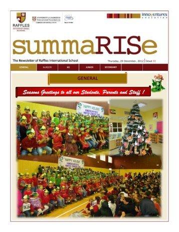 SummaRISe 41 - Raffles International School