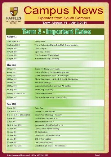 Issue 11 - Raffles International School