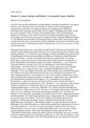 Fabian Kettner Theodor W. Adorno: Ontologie und ... - Rote Ruhr Uni