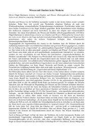 Wissen und Glauben in der Moderne - Rote Ruhr Uni