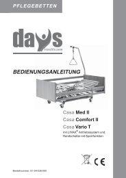 BEDIENUNGSANLEITUNG - Sanitätshaus OrthoMedic