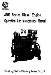 HUAFENGDONGLI 4102 Series Diesel Engine Operation And - Rotek