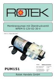 Handbuch Membranpumpe WPEM-L Serie - Rotek