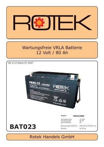 BAT023 - Rotek