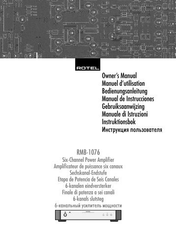 RMB-1076 Issue 1 ENG.indd - Rotel