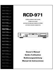 RCD-971 - Rotel