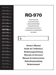 RQ-970 Manual - Rotel