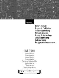 RVE-1060 - Rotel