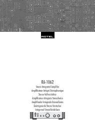 Manual de instrucciones - Rotel