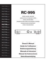 RC995 Manual - 4 - Rotel