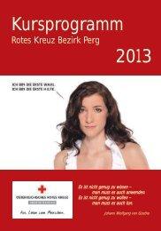 Kursprogramm 2013 - Österreichisches Rotes Kreuz
