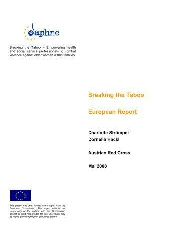 European report - Österreichisches Rotes Kreuz