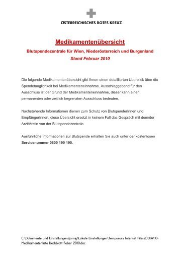 Medikamentenliste - Favismus.de