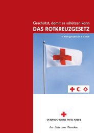 DAS ROTKREUZGESETZ - Österreichisches Jugendrotkreuz
