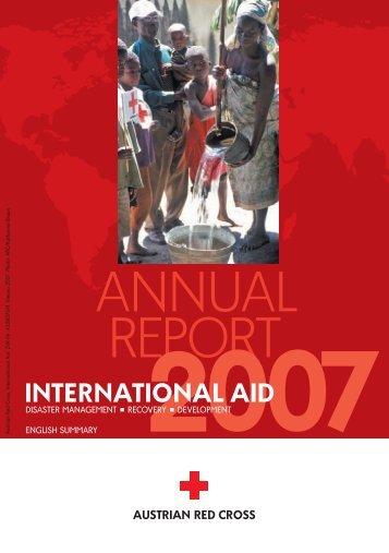 ANNUAL REPORT - Österreichisches Rotes Kreuz