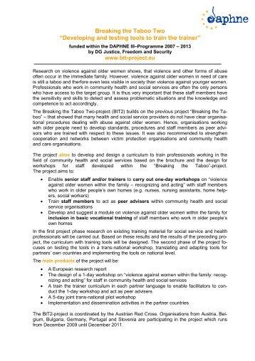 Project leaflet-BtT2 - Österreichisches Rotes Kreuz