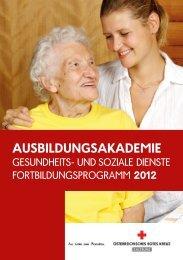 Fortbildungsprogramm 2012 - Österreichisches Rotes Kreuz