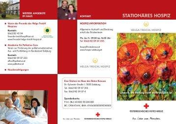 Folder zum Helga Treichl Hospiz - Österreichisches Rotes Kreuz